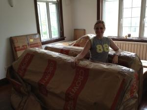 Furniture arrives at last...