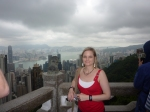 Bron brightens up the gloomy sky over Hong Kong