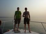 Me and Marcel on the boat...
