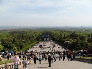 Looking downhill from Dr Sun Yat-sen's Mausoleum