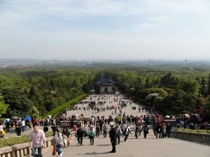 Looking downhill from Dr Sun Yat-sen's Mausoleum