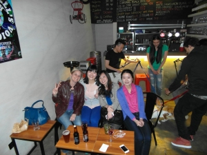 Bron, Lucia, Nancy and Valentina in the Handle Bar