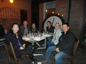 Rachel, me, Chong, Isaac, Bron and Ben at Commune Social