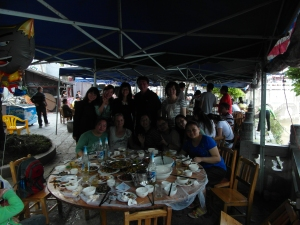 Dinner with Anny's classmates in Yangshuo