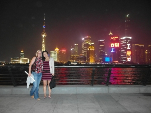 Bron and Rachel on the Bund