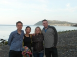 With Isaac and Chong on the beach at Bray