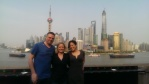 Me, Bron and Rachel at the Bund