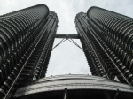 The Petronas Towers - at the bottom